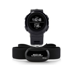 Montre Connectée Multisports + Sangle Bluetooth de fréquence cardiaque MAGELLAN ECHO