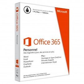MICROSOFT Office 365 Personel 32 - 64 bits Francais - 1 PC Windows ou Mac + 1 tablette -  1 AN