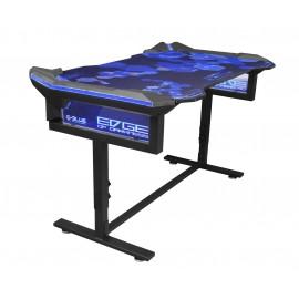 Bureau Gamer Rétro Eclairé RGB – E-BLUE - EGT003BKAA-IA pour Gaming et Arènes E-Sport