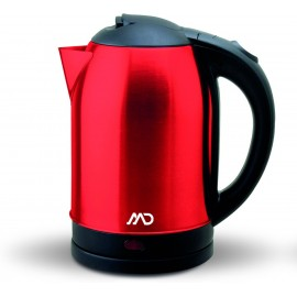 Bouilloire Inox 1.8L - Rouge - MD Homelectro - MK-7920R