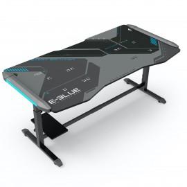 Bureau Gamer King Size éclairé avec hauteur ajustable et tapis de souris - E-BLUE - EGT576