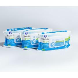 180 Lingettes antibactériennes mains et surfaces - 75% d'alcool - virucide EN14476 - Bactéricide EN1276 - Levuricide