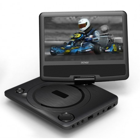 """Lecteur DVD Portable 2 écrans LCD 7"""" - DIFRNCE PDVD7080 TWIN"""