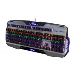Clavier Mécanique Gamer - Clavier Gaming avec Blue Switch - LED Rétro-éclairé - E-BLUE - EKM729 - OPS XL - AZERTY